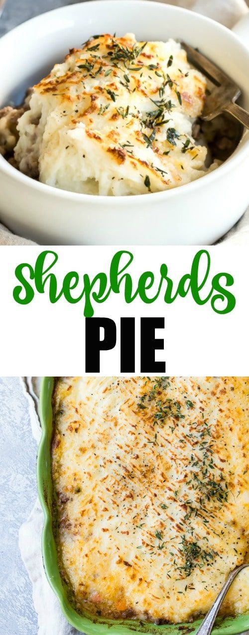 An easy recipe for Shepherd's Pie. Dive into this British classic made from ground meat (beef or lamb) and vegetables in a rich gravy topped with mashed potatoes. via @culinaryhill