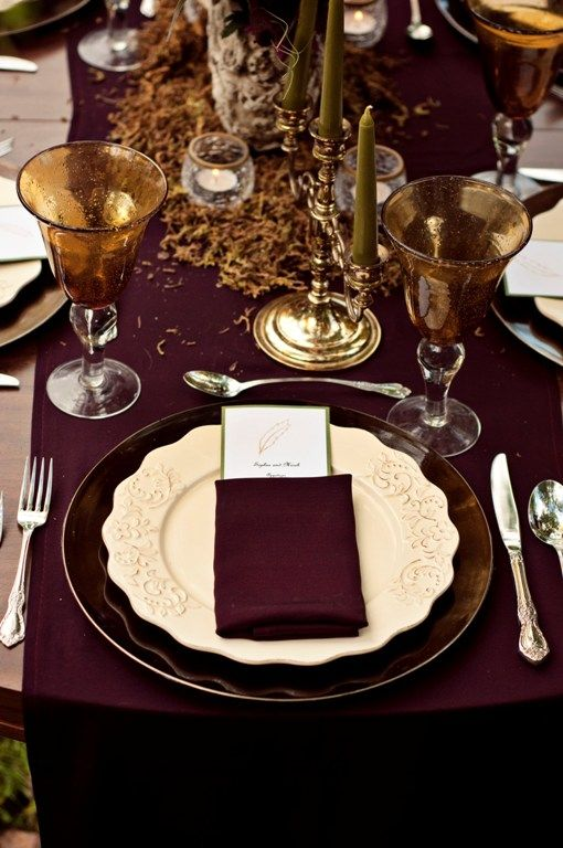 An Absolutely Breathtaking Table Scape In Marsala