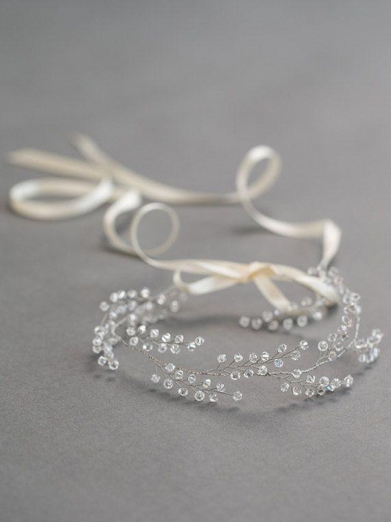 Diadema de Novia de cristal Corona de novia por DavieandChiyo