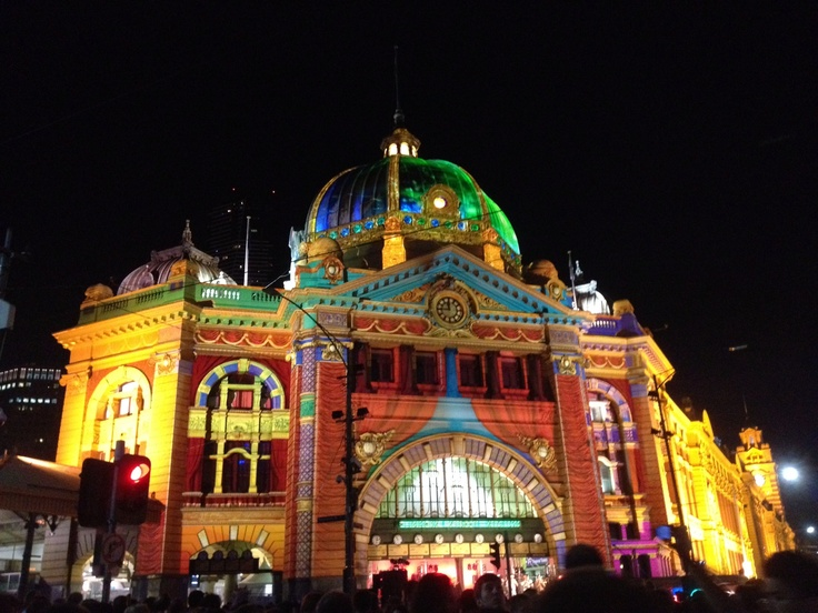 White Night Melbourne, 2013.  Was there and it was a balmy and awesome evening!