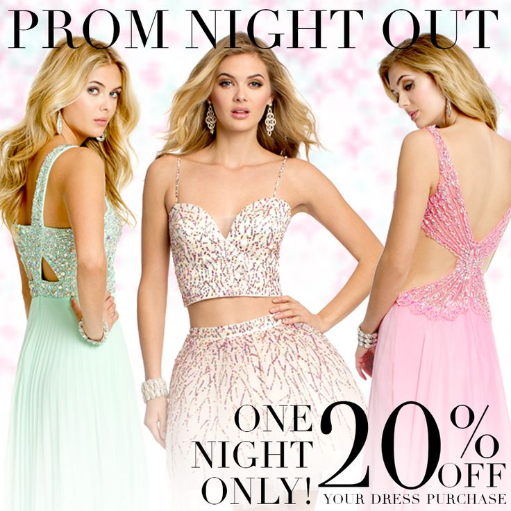 It's the Camille La Vie & Group USA Prom Dresses Sale! For ONE NIGHT ONLY - Thursday, March 5th, 2015 from 6pm till close of store.     Or shop online using promo code   PROMNIGHT15    #prom #promdresses #dresses #gowns #fashion #camillelavie #shopping #sales #discounts