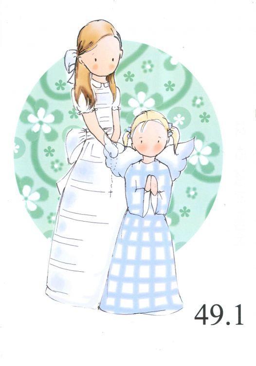 D 0510201-49 (4) - Dibujos de recordatorios de primera comunión.