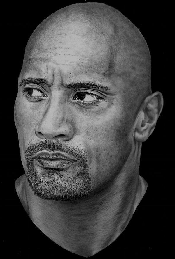 dwayne johnson drawings   Dwayne 'The Rock' Johnson by Paul-Shanghai