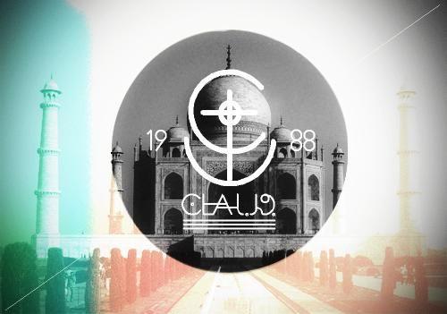 Claud-Ol'Vintage Taj-Mahal with Hipster Logo