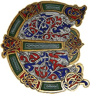 Initiale E celtique                                                                                                                                                                                 Plus