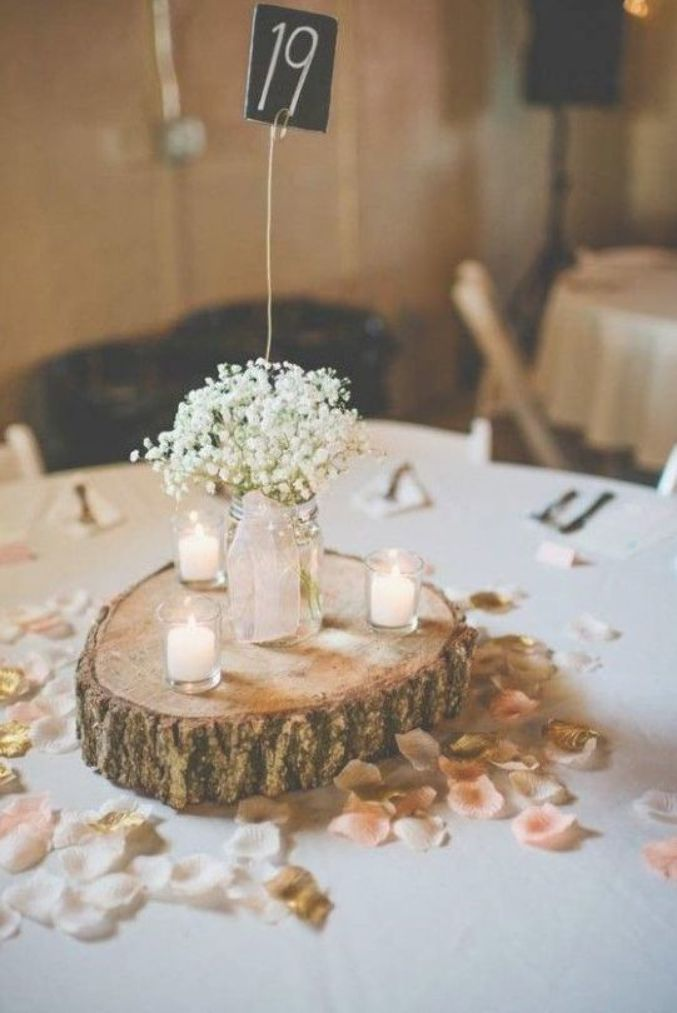 Round Wood Centerpiece Best 25 Wood Slab Centerpiece Ideas On Pinterest Adastra Weddingcenter Rustic Table Decor Rustic Wedding Decor Barn Wedding Decorations