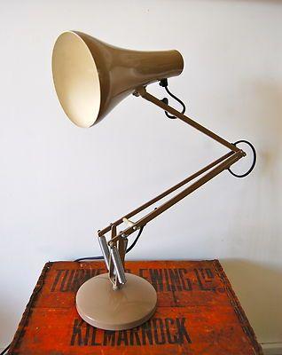 Vintage Genuine Working Anglepoise Desk Lamp Beige Herbert Terry | eBay