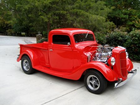 all red ford trucks   1936 Ford Pickup - red, custom, ford, hot, pickup, vintage, old ...