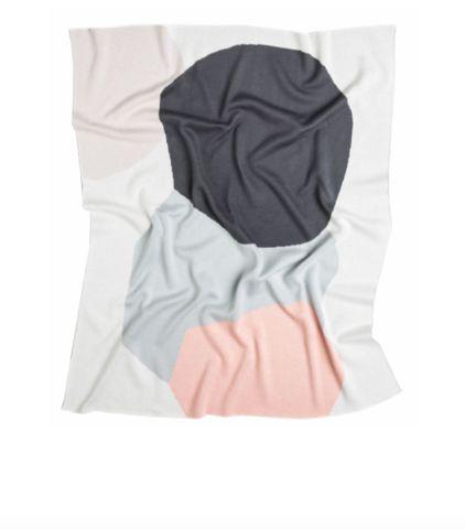 Kate & Kate Hudson Baby Blanket (Peach/Cloud/Grey)