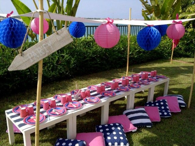Nautical Party in pink & navy