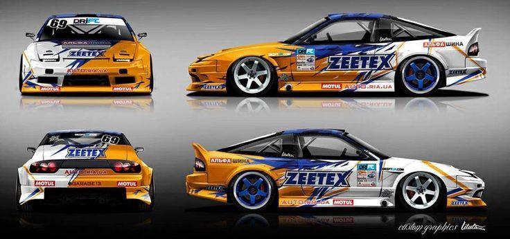 Mean rps13 drift car drift cars drifting cars car wrap