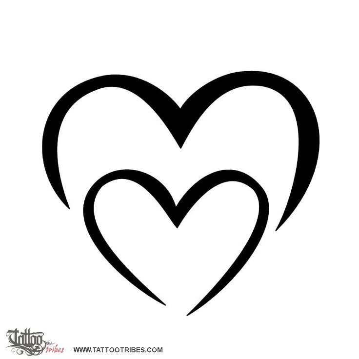 8 best heart tattoos images on pinterest feminine tattoos heart rh pinterest com Two Hearts Tattoo Designs Tribal Double Heart Tattoo Designs