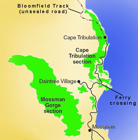 map of daintree national park