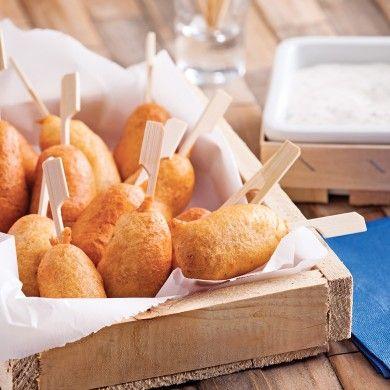 Mini-pogos, sauce moutarde et érable - Recettes - Cuisine et nutrition - Pratico Pratiques