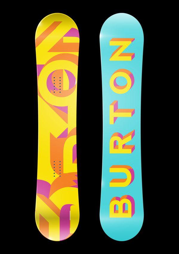 Burton Snowboard Designs by Paige Lauman, via Behance