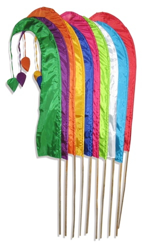 These  4 metre Bali Flags will look stunning at your wedding, event or party.     The people of Bali, use Umbul Umbul flags for ceremonies and festivals.        1 x 4 Metre Flag with Bamboo Pole    $39.95