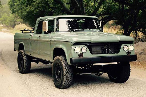 ICON Dodge Power Wagon,  they take a brand new Dodge truck, either a 2500 or 3500 MegaCab, and fit the old body over the top for a ride that drives like new—with a 5.7-liter Hemi—but looks like an off-road weapon from the past.