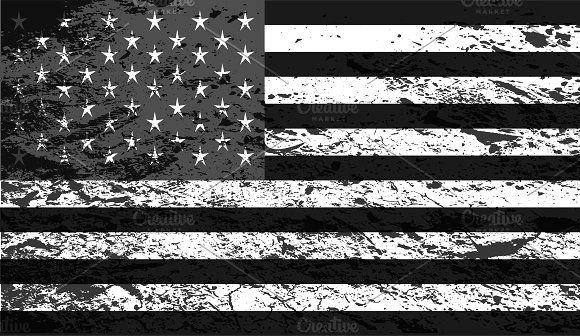 American Flag Usa Black And White American Flag Black And White Flag