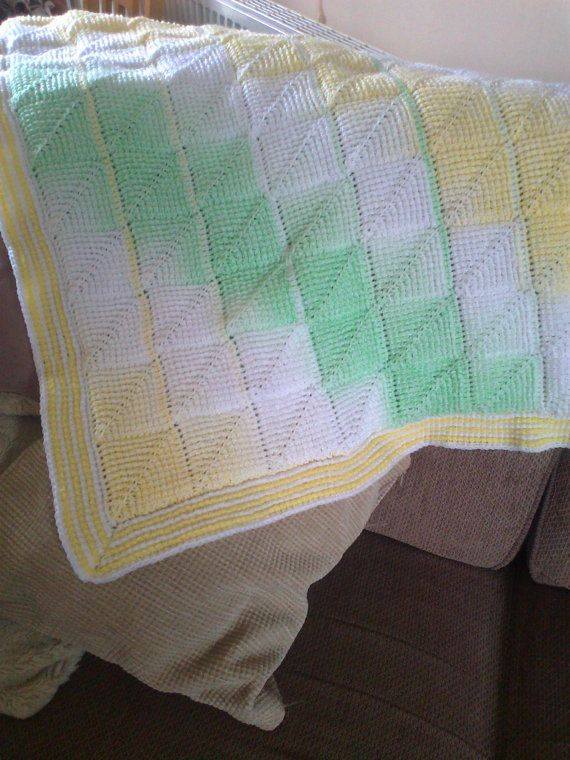 Tunisian Crochet Pattern Tunisian Diamond Entrelac Baby