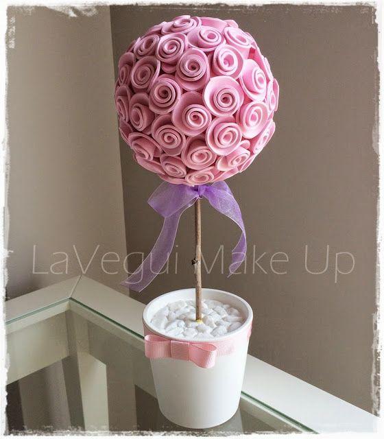 DIY Deco: Árbol-Bouquet de flores con foamy! Tenéis el paso a paso en el blog!