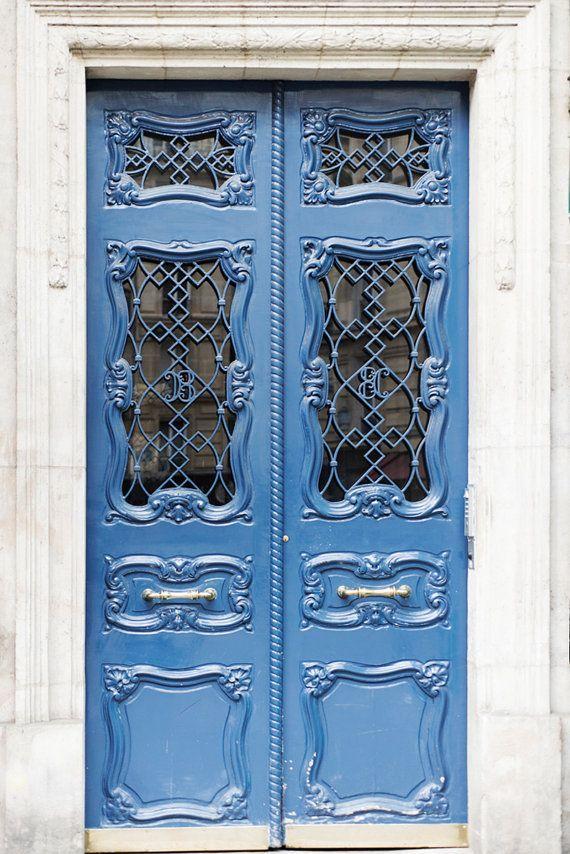 Love this color...Paris Door Photograph Art Nouveau Door French