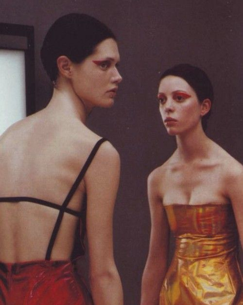 Malgosia Bela and Kirsten Pieters   by Steven Klein   for Vogue Italia February 1999