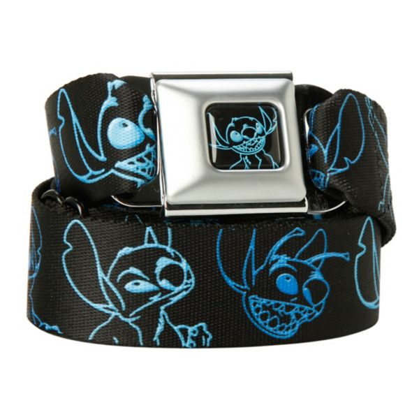 Disney Lilo & Stitch Outline Seat Belt Belt | Hot Topic ($27) ❤ liked on Polyvore featuring accessories, belts, disney belt, buckle belt and disney