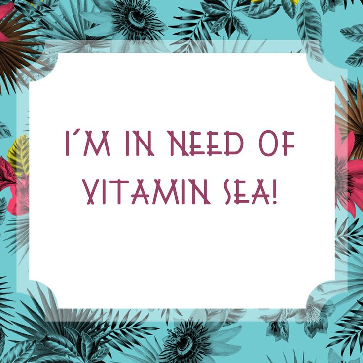 Who else is in need of vitamin sea! xx