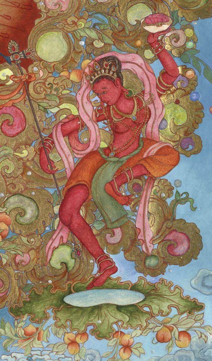 Red Dakini Who Dances in White Mahakala's Heart | Laura Santi …laurasanti.com