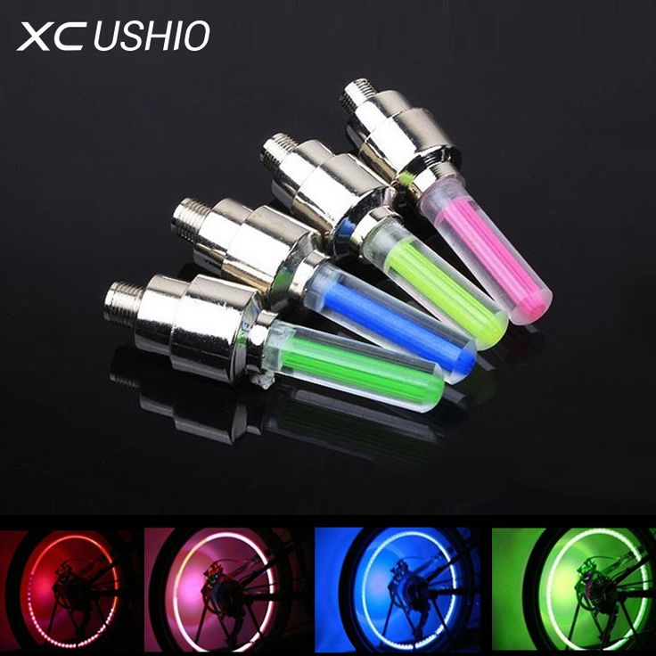 New Led Bicycle Lights 4pcs/set Wheel Tire Valve's Bike Accessories Cycling Led Bycicle Accessories Light