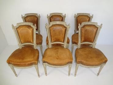 Mecox Gardens - Vintage French Set of Dining Chairs Detail