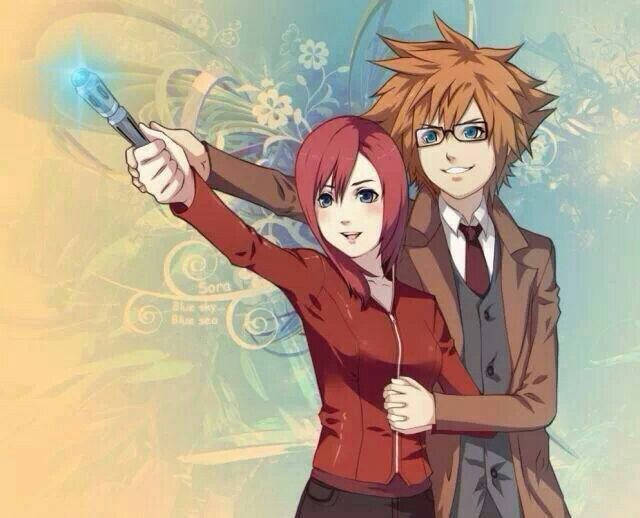 Doctor Who/Kingdom Hearts Crossover ♡♡♡♡♡ Sora and Kairi with a Sonic Screwdriver
