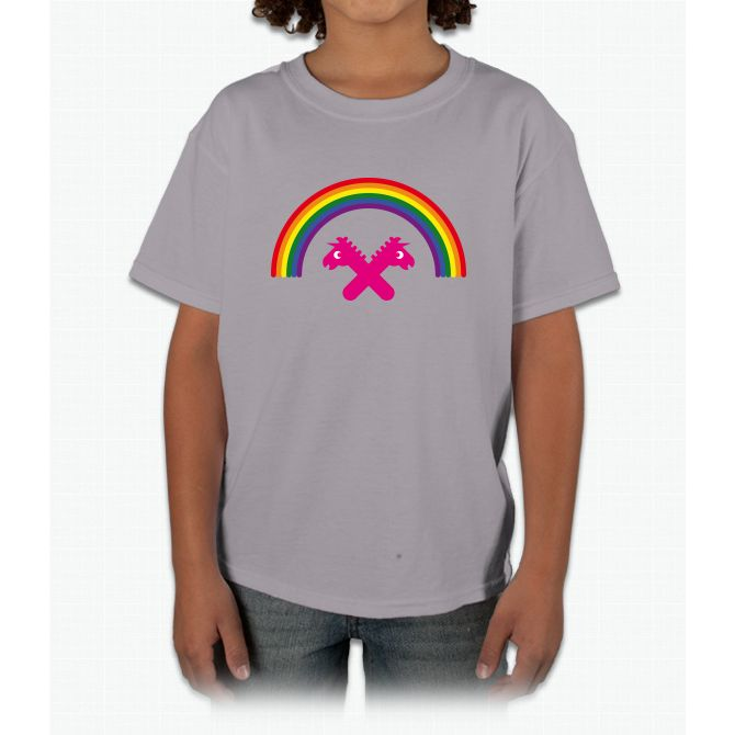 Unicorns Under The Rainbow Young T-Shirt