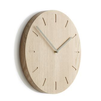 The Watch:Out wall clock oak $139 from Applicata is designed by Anne Boysen. It has a minimalistic design in solid oak with stylish pointers and is produced in Denmark. The clock is a great interior detail on the wall to help you keep track of time. Available in different variants.