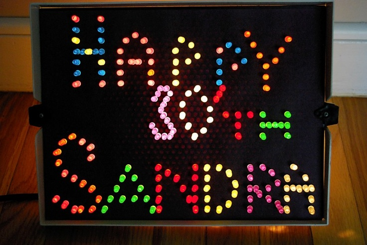 80's Theme - 30th Birthday Lite Brite... i need to find mine! i hope i still have it.