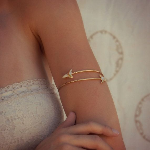 Upper Arm Cuff /// Lux Divine Double Shark Tooth Wrap by luxdivine, $85.00