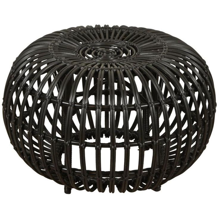 Rattan Ottoman by Franco Albini | From a unique collection of antique and modern ottomans and poufs at https://www.1stdibs.com/furniture/seating/ottomans-poufs/