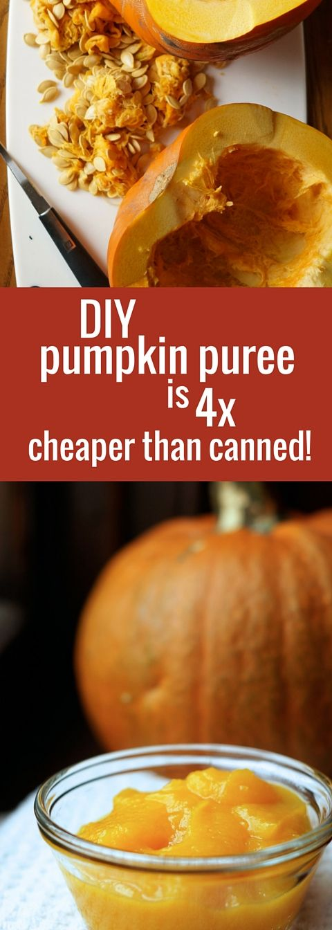 8 Easy Steps to the Perfect Pumpkin Puree! Save money by making this essential fall ingredient yourself!