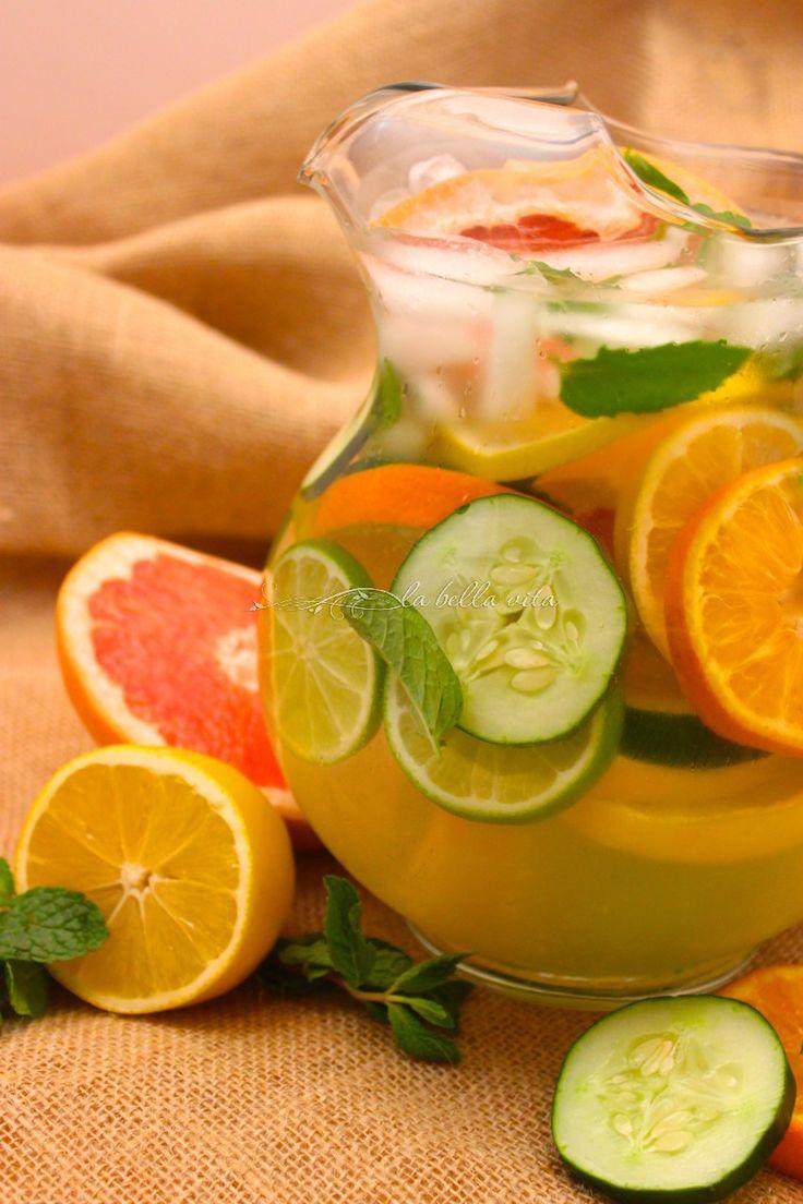 Citrus DeTox Spa Water    La Bella Vita Cucina