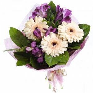 Букет цветов «Крем-брюле»