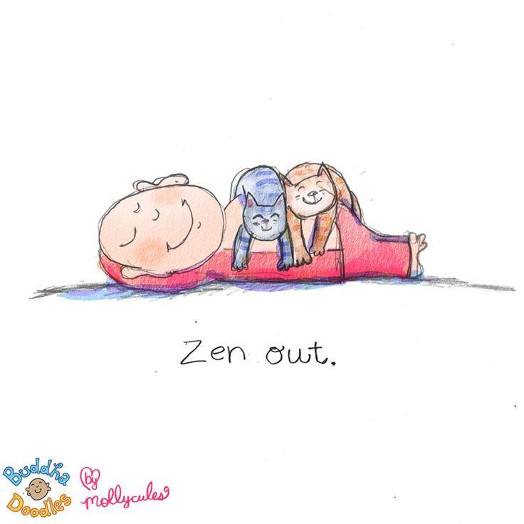Zen Out Buddha Doodles @Molly Simon Simon Hahn