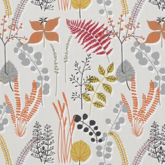 Botanik in Red fabric 152 cm $75