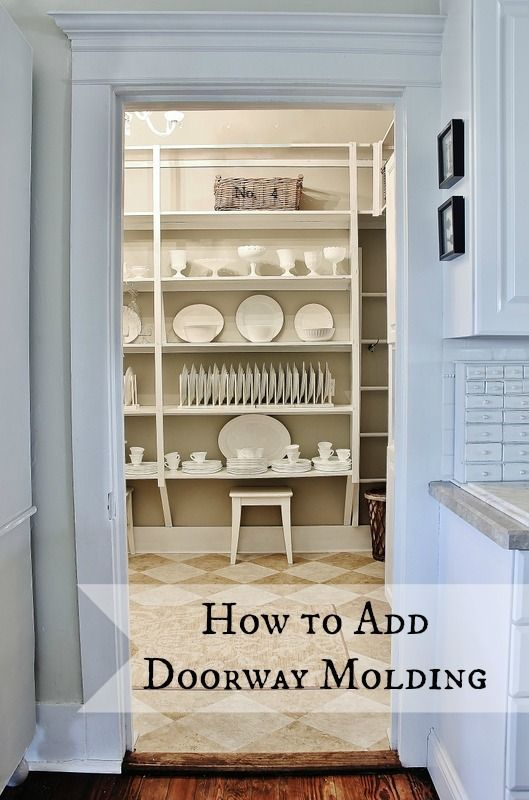 How to add door molding to your doorways....now it looks like a home with character!