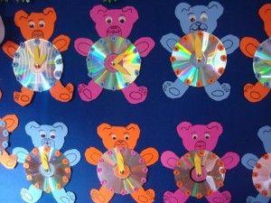 bear clock craft idea (8)