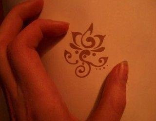 QUERO... Miniature Red Lotus Tattoo