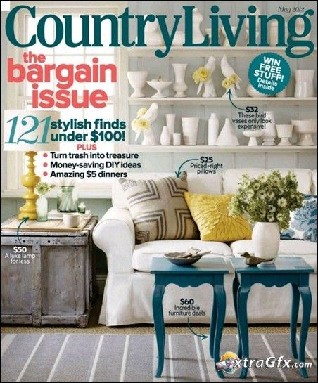 I love getting magazines that inspire me to decorate, cook, create, garden, or exercise.  Country Living is one of my favorite decorating magazines.  This month there is article on a DIY North Carolina Home with an idea that I just can't get out of my head.  I have no place to implement this idea in …
