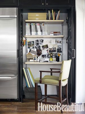 the perfect hideaway office a desk area utilizing the container storeu0027s elfa shelving system is tucked