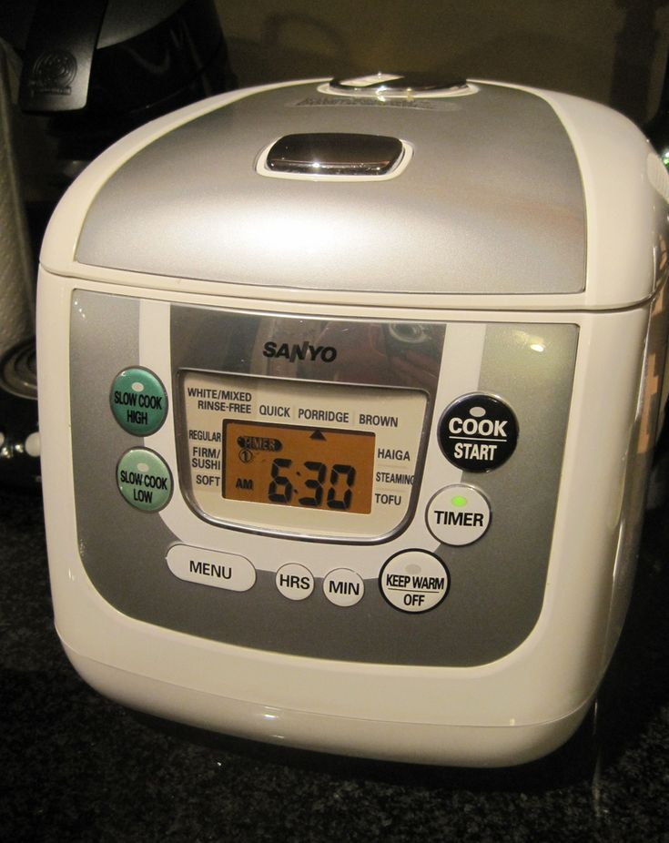 Everybody in Hawai'i has one of these on their kitchen counter. Rice cooker.
