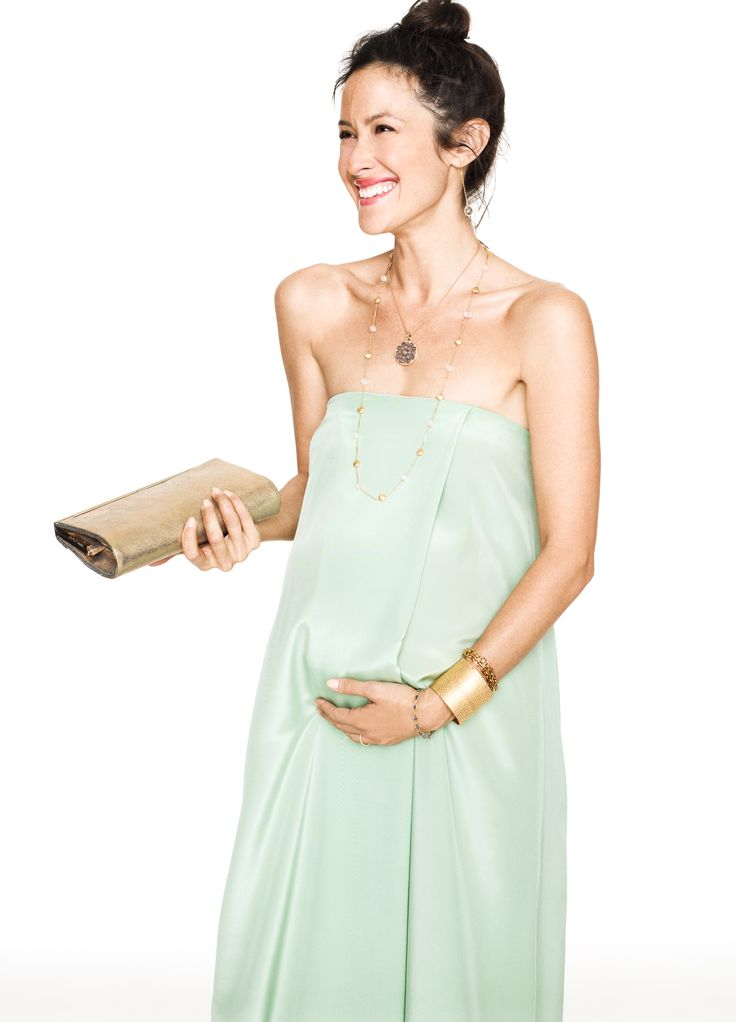Light turquoise strapless dress pregnancy wears for Cute maternity dress for wedding