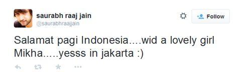 Sebuah kejutan diberikan oleh Saurabh Raj Jain. Mendadak ia datang ke Indonesia, dan kini berada di Jakarta!